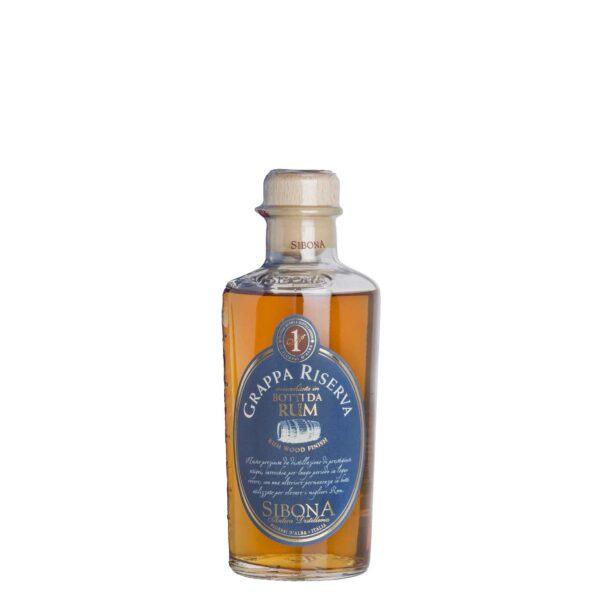 Grappa Riserva Affinata in Botti da Rum Antica Distilleria Sibona