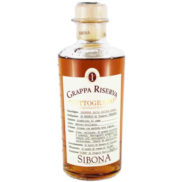 Grappa Riserva TuttoGrado Barbera Antica Distilleria Sibona 50 cl.